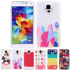 Simple Cute Patterns Hard Snap Dustproof Back Case Cover For Samsung Galaxy S5