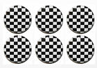 Black & White Check Chequered Flag Magnets - 25mm - High Quality