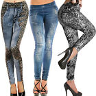 Womens Stretch Casual Slim Fit Skinny Legging Denim Jeans Trousers Pencil Pants