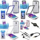 Waterproof Shockproof Hard Case+3in1 Headset Accessory For Samsung Galaxy Note 4