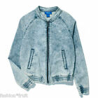 Adidas Originals Womens Supergirl Denim Acid Wash Zip Track Jacket New XS M