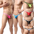 Sexy Mens Panties G-sting T-back Underwear Stripes Breathable Thongs Size M L XL