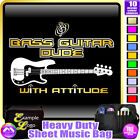 Bass Guitar Dude With Attitude - Sheet Music & Accessories Bag by MusicaliTee 4