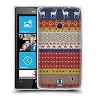 HEAD CASE KNITTED CHRISTMAS SILICONE GEL CASE FOR NOKIA LUMIA 520