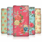 HEAD CASE NOSTALGIC ROSE PATTERNS SILICONE GEL CASE FOR SONY XPERIA ZR