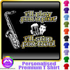 Sax Tenor Play For A Pint - Personalised Music T Shirt 5yrs - 6XL by MusicaliTee