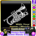 Cornet Picture With Your Words - Sheet Music & Accessories Bag by MusicaliTee