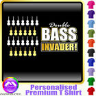 Double Bass Invader - Personalised Music T Shirt 5yrs - 6XL by MusicaliTee