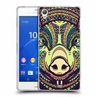 HEAD CASE AZTEC ANIMAL FACES FARM SERIES 4 SILICONE GEL CASE FOR SONY XPERIA Z3