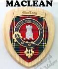 MACLEAN CLAN CREST WALL PLAQUE PLAQUES AVAILABLE IN ANY CLAN NAME