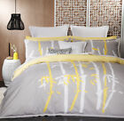 New Bamboo Silver Quilt / Doona Cover Set Logan & Mason 4 Sizes