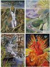 PAGAN WICCAN GREETING CARDS Water Air Earth Fire Spirit Goddess WENDY ANDREW
