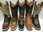 Men's Work Boots Rodeo Western Cowboy Full Grain Leather