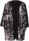 Womens New Plus Size Floral Print Ladies Kimono Waterfall Open Cardigan Long Top