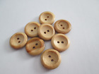NATURAL WOODEN BUTTONS TWO HOLE 14mm, 16mm, 19mm, 23mm, 25mm, 29mm, 31mm & 35mm
