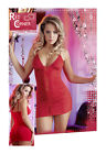 Red Corner Ruffled Red Mini Dress