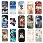 New Cute Fashion Patterns TPU Soft Protect Back Cover Case For iPhone 5/5S 5C 6
