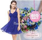 BNWT FIFI Blue Cobalt Chiffon Corsage Prom Evening Bridesmaid Dress UK SALE!!!
