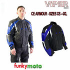 CLEARANCE CHEAP VIPER CORETECH MOTORCYCLE SPORTS JACKET BLACK BLUE CE ARMOURED