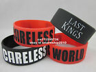 CARELESS WORLD BRACELET WRISTBAND TYGA LAST KINGS YMCMB YOUNG MONEY