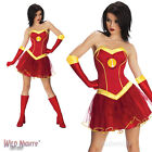 LADIES IRON LADY MARVEL AVENGERS IRON MAN SUPERHERO FANCY DRESS COSTUME