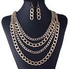 Fashion Jewelry Crystal Chunky Statement Bib Pendant Choker Chain Bib Necklace