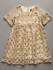 LAUNDRY by Shelli Segal Girls Gold Sequin Party Dress Size 6, 6X $70 NWT