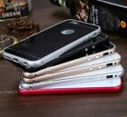 Top Aluminium Alloy Frame Tempered Glass Back Metal Case for iPhone 6,6 Plus