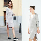 ZARA GREY KNITTED DRESS SIZE MEDIUM