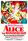"""""""ALICE IN WONDERLAND 1 """".. Classic Childrens Animated Movie Poster A1A2A3A4Sizes"""