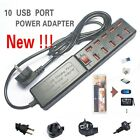 Universal 6A 10 Port USB Outlet Power strip Wall Charger Adapter for IPhone HTC