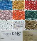 DMC ss10 / 3mm Iron On Hot Fix Rhinestones in Varies Colors and Varies Lots