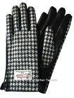 Ladies  Genuine  100% Harris Tweed & Leather Gloves LB3000