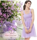 BNWT AMY Lilac Lavender Chiffon Prom Evening Bridesmaid Occasion Dress UK 6 - 18
