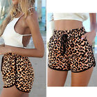 G Hot Casual Sexy Women Stretchy Leopard Mini Pants Shorts Middle Waist S M L XL
