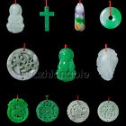 Jade pendant Fung Shui handcrafted good luck charm Emerald
