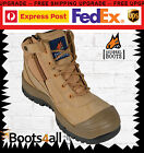 NEW Mongrel Work Boots Zip Safety Steel Toe Scuff Cap FREE Express Post 461050