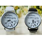 Hot Women Leather Watch Wathever I Am Late Anyway Letter Watches New Cheap