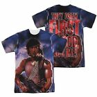 Rambo Movie First Blood Frew First All Over Sublimation Poly Adult Shirt S-3XL