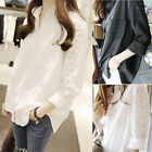 New Women Casual Loose Shirt Pure Color Long Good Quality Fashion Blouse Tops