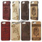 Laser Cut Natural Genuine Wood Wooden Bamboo Hard Cover Case For iPhone 6 4.7""