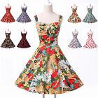 SUMMER DRESSES 50s ROCKABILLY Floral VINTAGE RETRO PIN UP PARTY PLUS SIZE DRESS
