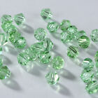 Fashion DIY jewelry 3/4mm Glass Crystal 5301 Bicone bead 100/1000pcs Fruit green