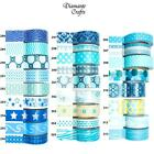 Washi Tape Decorative Masking Adhesive Paper Craft Trim - Blue & Turquoise
