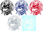 WOLF WITH DREAMCATCHER VINYL GRAPHIC DECAL/STICKER - CHOICE OF 5 COLORS