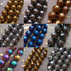 2-10mm Black Gold Silver Blue Copper Rainbow Faceted Hematite Round Loose Beads