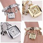 Fashion Women Love Rhinestone Chain Bracelet Wrist Watch Square Watch Cheap