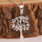 Sterling Silver Tree of Life Pendant Necklace Gift for Wife Mothers Grandmothers