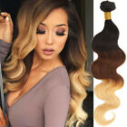 3Bundles Brazilian Human Hair Extension Body Wave Ombre 3TONE 1B/33/27 UK LOCAL