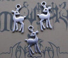 Free ship 60/100 pcs retro style lovely young deer alloy charms pendants 21x11mm